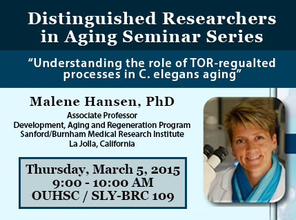Distinguished Researchers in Aging Seminar Series