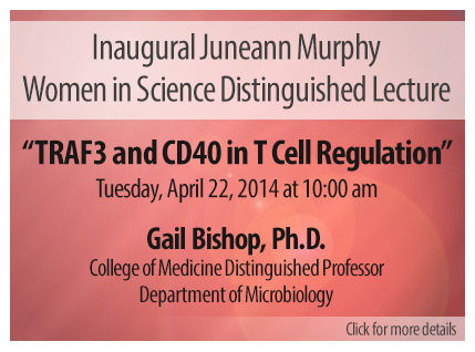 Juneann Murphy Women in Science Lecture - April 22. Click for details