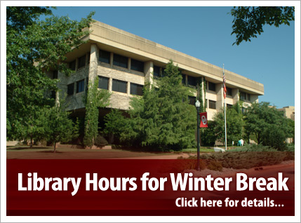Library Hours for Winter Break