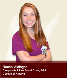 Rachel Aldinger Campus Activities Board Chair, SGA College of Nursing