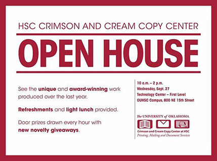 Crimson and Cream Copy Center Open House