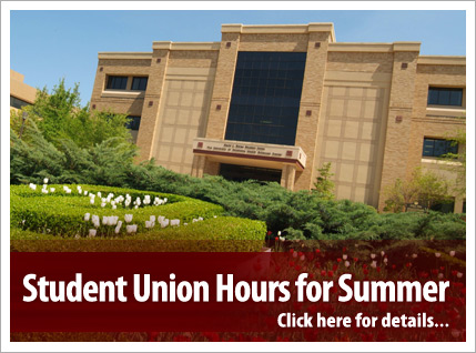 Student Union summer hours