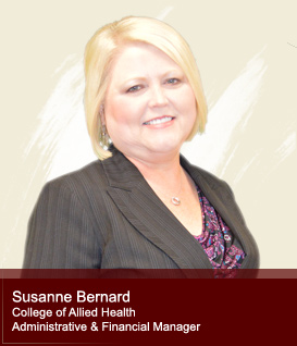 Susan Bernard-College of Allied Health Administrative and Financial Manager