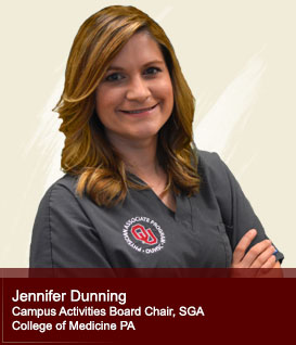 Jennifer Dunning Campus Activities Board Chair, Student Government Association