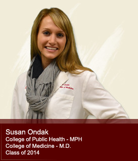 Susan Ondak-Public Health, College of Medicine class of 2014