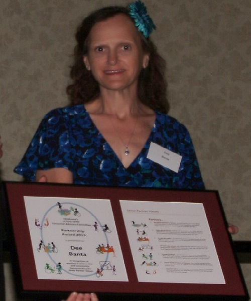 Dee Receiving the 2013 CAC Partnership Award